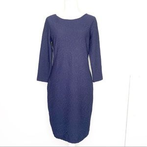 Calvin Klein 3/4 Sleeve Textured Sheath Dress